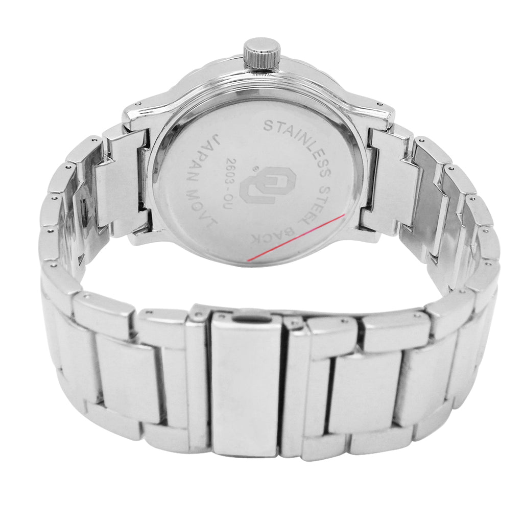 Rosemarie Collections Men's The University Of Oklahoma OU Licensed Collegiate Watch OK