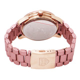 Flower Face with Crystal Accents Bracelet Watch (Blush)