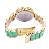 Crystal Surround and Flower Face Bracelet Watch (Mint)
