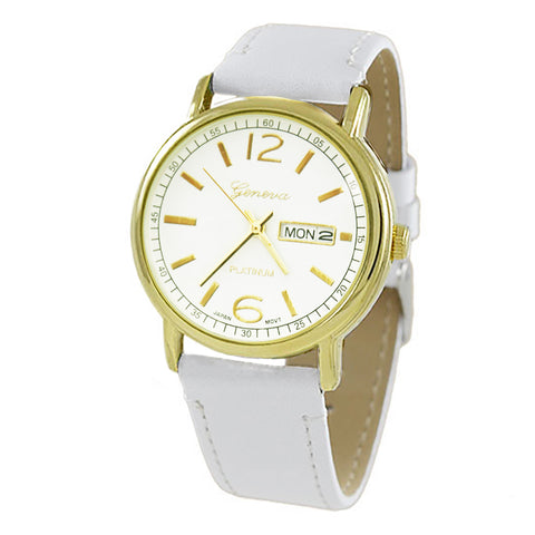 Genuine Leather Mother of Pearl Fashion Watch (Camel Tan/Rose Gold)