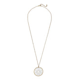 Rosemarie Collections Two Tone Geometric Star Medallion Pendant Necklace (Gold)