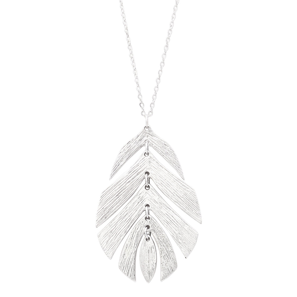 Fashion Jewelry Boho Feather Dangle Necklace