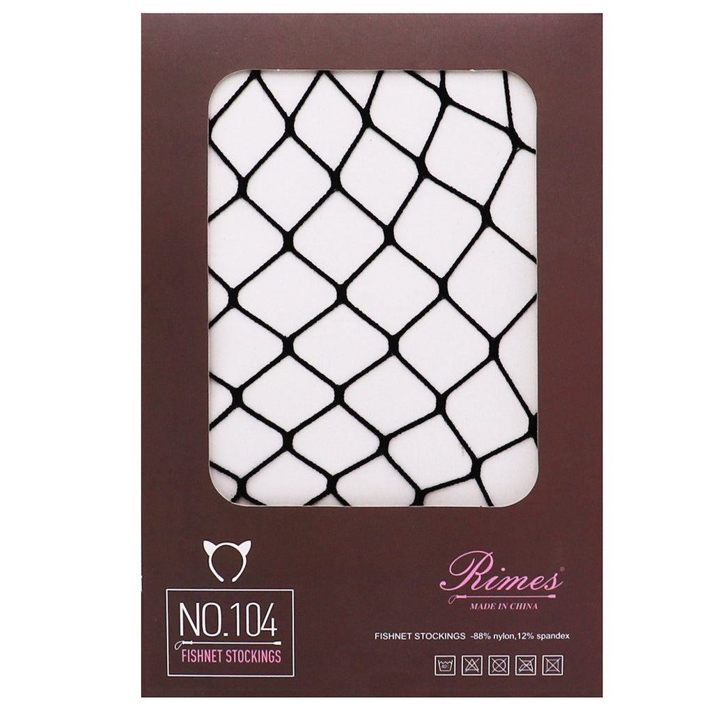 Classic Fishnet Pantyhose Tights (Black/X-Large Fishnet Pattern, One Size)