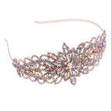 Stunning Flower Detail Crystal Rhinestone Statement Fashion Headband