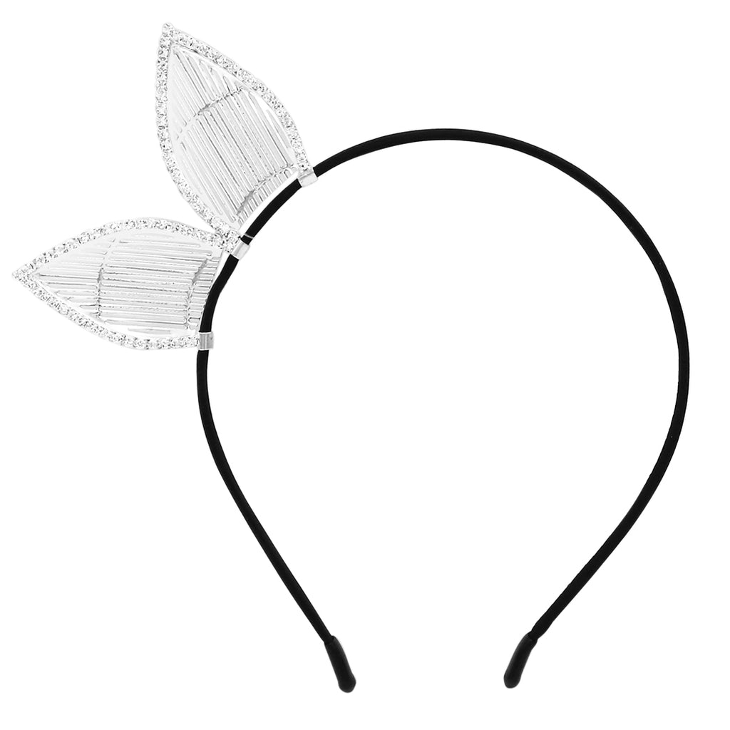 Fun Fashion Metal Bunny Ears Headband Tiara Halloween Costume