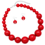 Women's Statement Piece Marge Simpson Inspired Halloween X-Large Red Simulated Pearl 18
