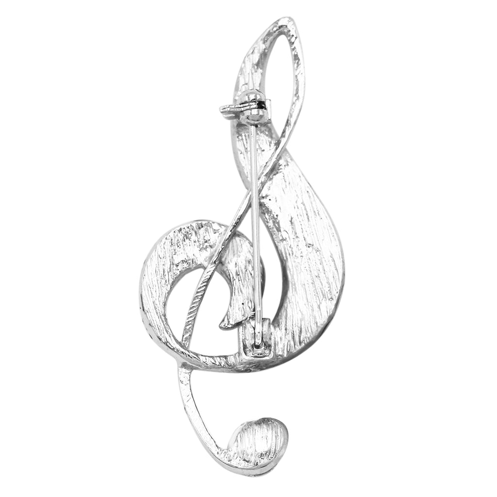 Music Note Treble Clef Statement Brooch Pin