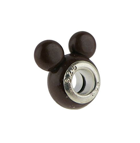 Brown Darling Mouse Ears  Style Charm Bead Fits All Brand Charm Bracelets