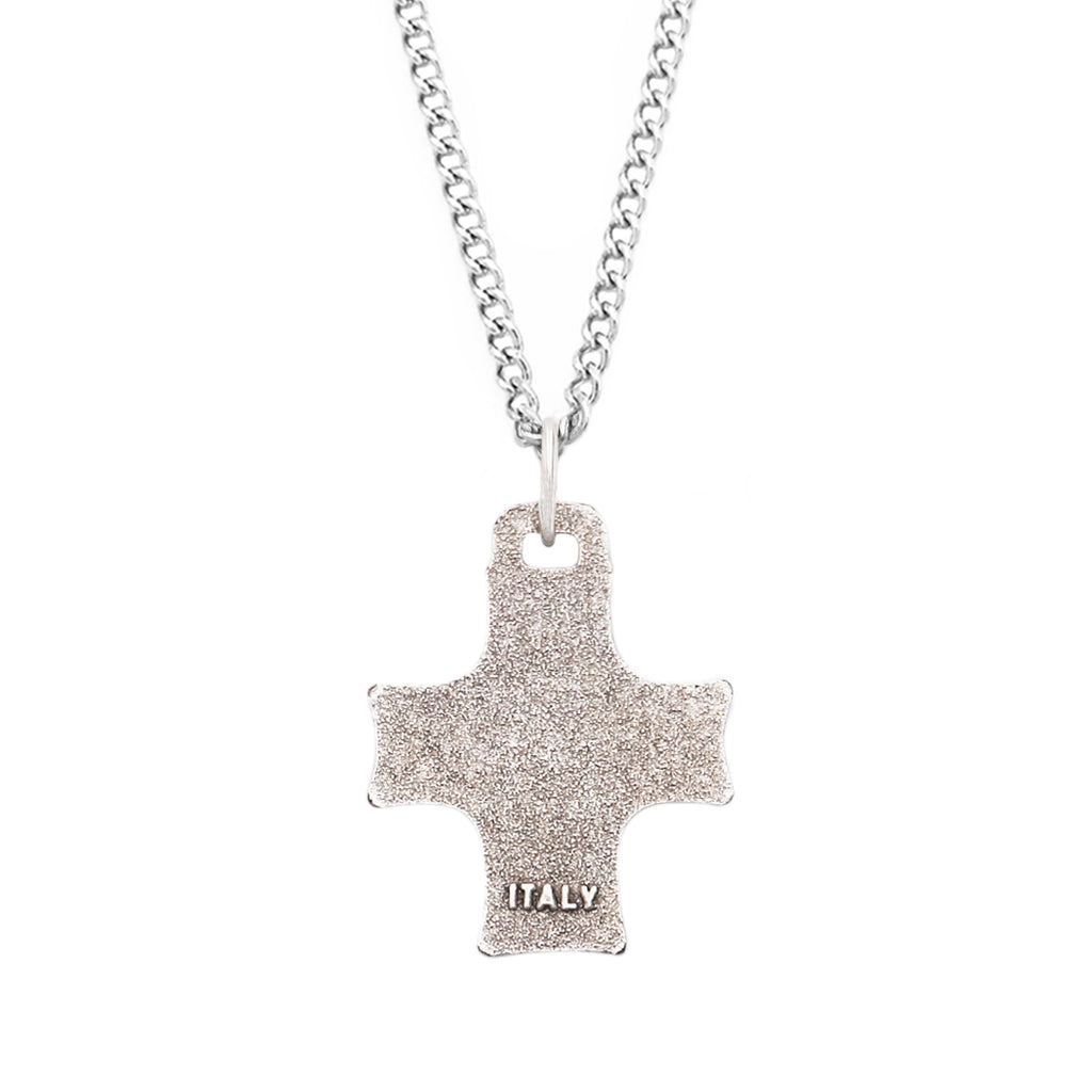 Religious First Communion Eucharist Symbol Cross Medal Pendant Necklace, 18""