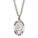 Religious Saint Medal Pendant Necklace St.Anthony