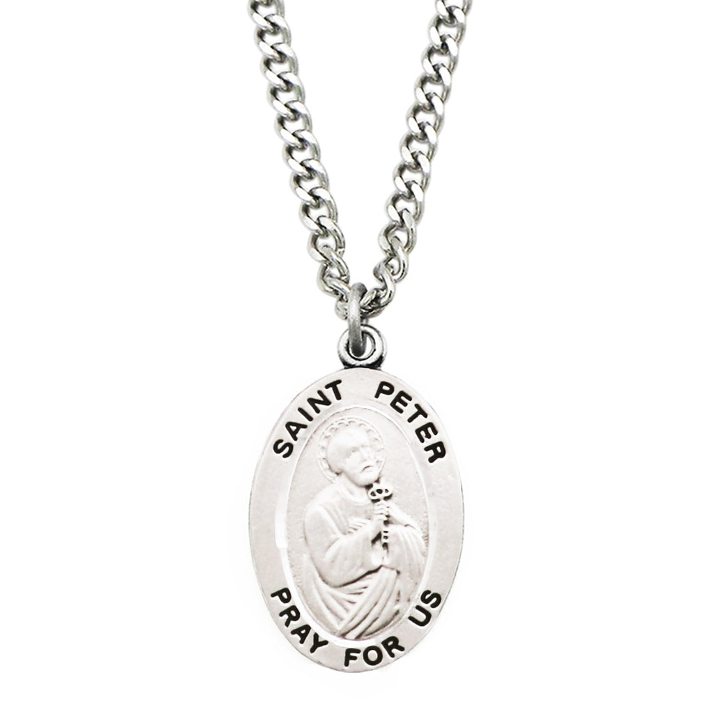 Rosemarie Collections Religious Saint Medal Pendant Necklace (St Peter)