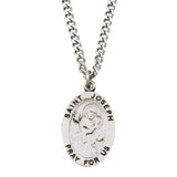 Rosemarie Collections Religious Saint Medal Pendant Necklace (St Joseph)