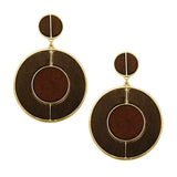 Wood Hoop Statement Earrings