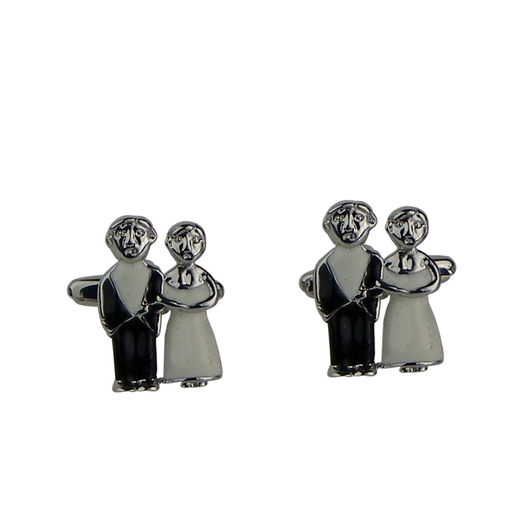Bride and Groom Wedding Cuff Links