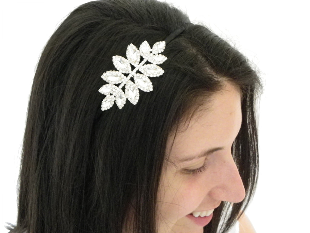 Decorative Crystal Side Spray Fashion Headband