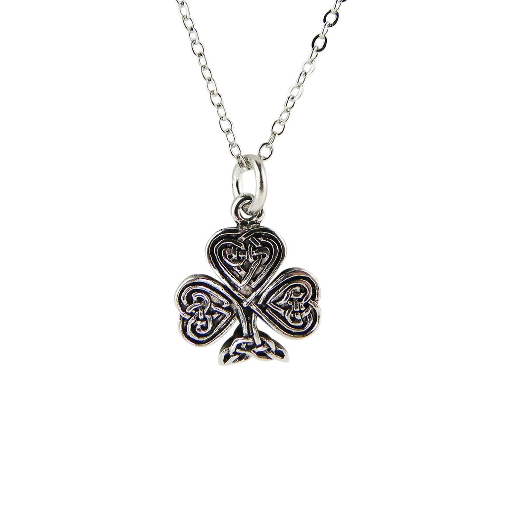 Shamrock Celtic Knot Irish Pendant Necklace