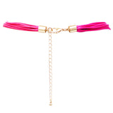Fashion Trending  Jewelry Stunning 6mm Beaded Multi Strand Necklace (Fuchsia Pink) 32 inches