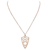 Rosemarie Collections Women's Western Style Statement Aztec Arrowhead Pendant Necklace