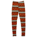 Rosemarie Collections Women's Spooktacular Halloween Novelty Leggings Halloween Stripe
