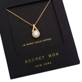 14k Gold Dipped CZ Crystal Pendant Necklace