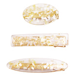 Lucite Hair Clip Accessories Alligator Clip 3 Piece Set