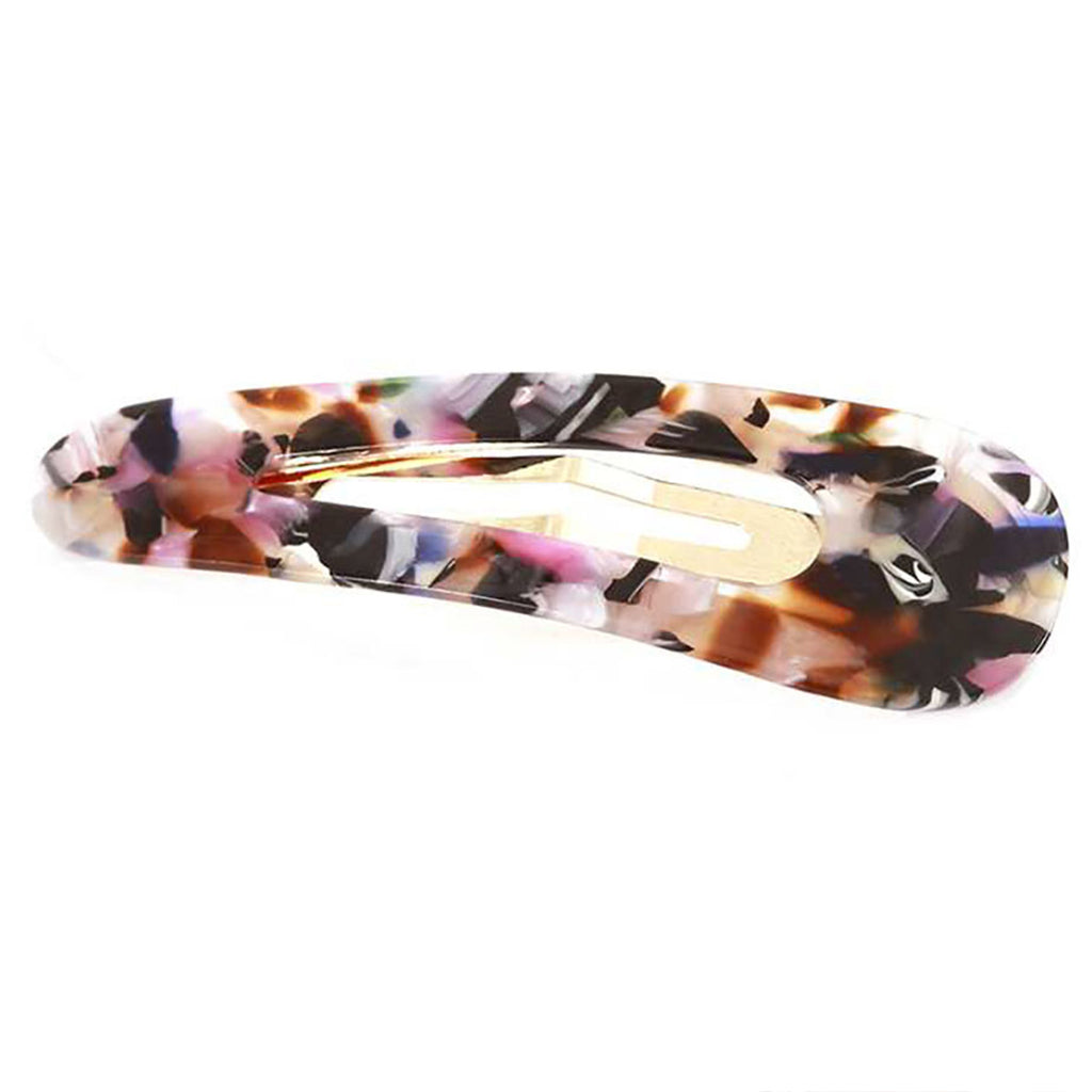 Single Large Lucite Snap Hair Clip Multicolored Barrett Accessories 3""
