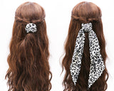 Women's Hair Scarf Scrunchie Ponytail Holder Hair Tie Elastic Band Leopard Prints Set of 2