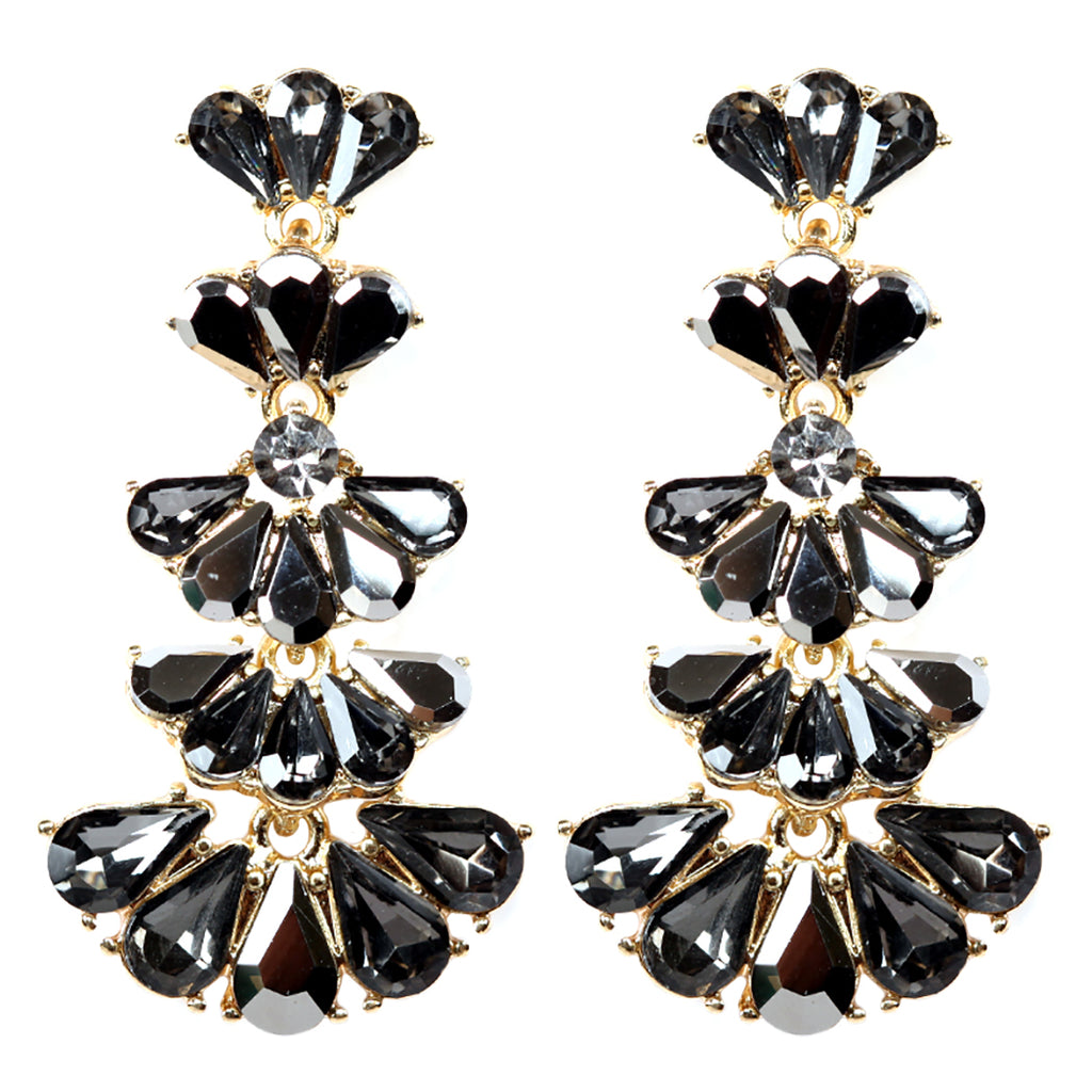 af5d80eea Fashion Jewelry Vintage Style Fan Crystal Drop Earrings (Black Diamond –  Rosemarie Collections