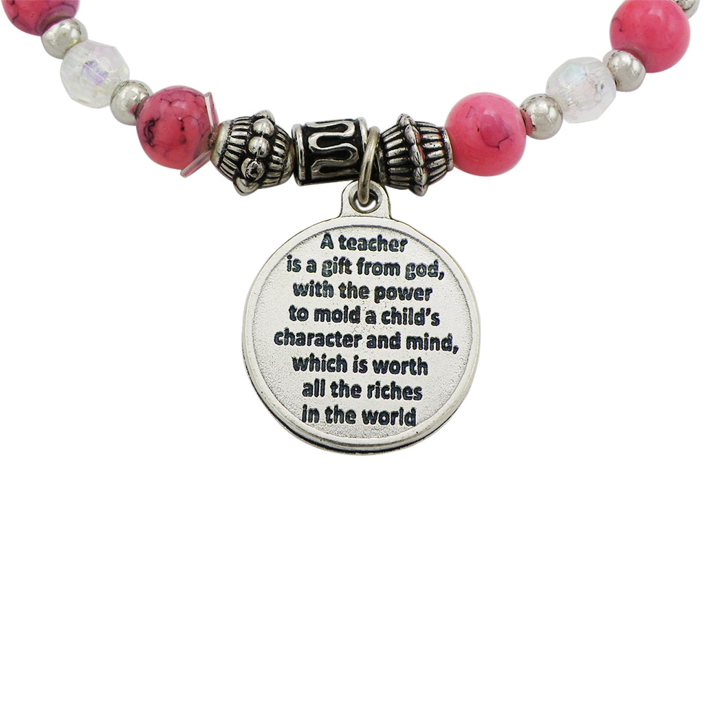 Teacher Appreciation Italian Bead Stretch Bracelet