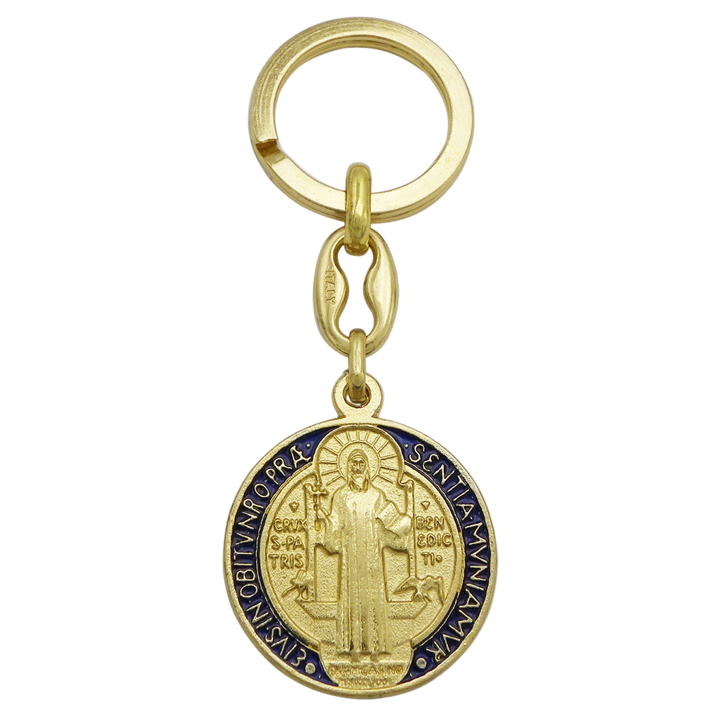 St Benedict Cross Imported from Italy Enamel Key chain