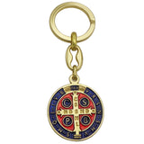 Rosemarie Collections St Benedict Cross Enamel Keychain