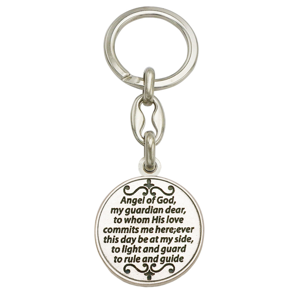 Rosemarie Collections Imported Italian Prayer Token Keychain (Guardian Angel)