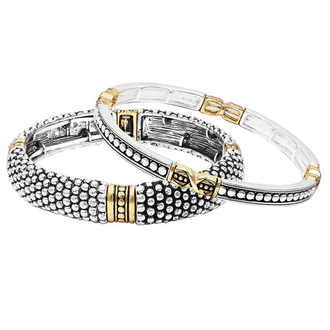 Rhinestone Style Silver Color Criss Cross Bangle Bracelet