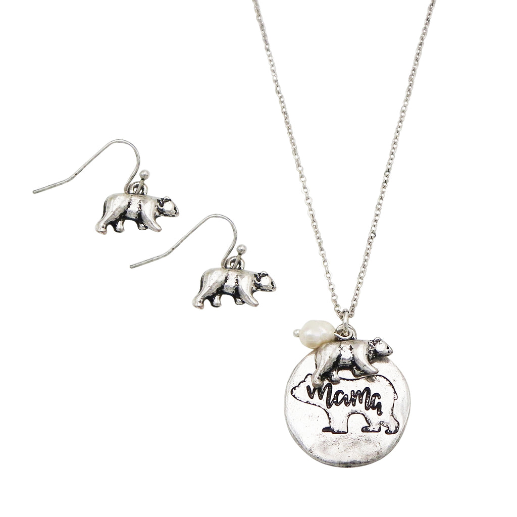 plated bar necklace gold n products com mama pipercleo silver bear