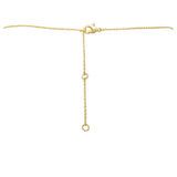 Gold Tone Vertical Bar Necklace