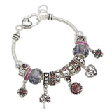 June Birth Month Birthstone Bead Charm Bracelet