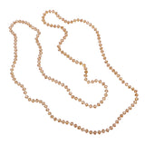 Long Glass Knotted Bead Strand Necklace 60
