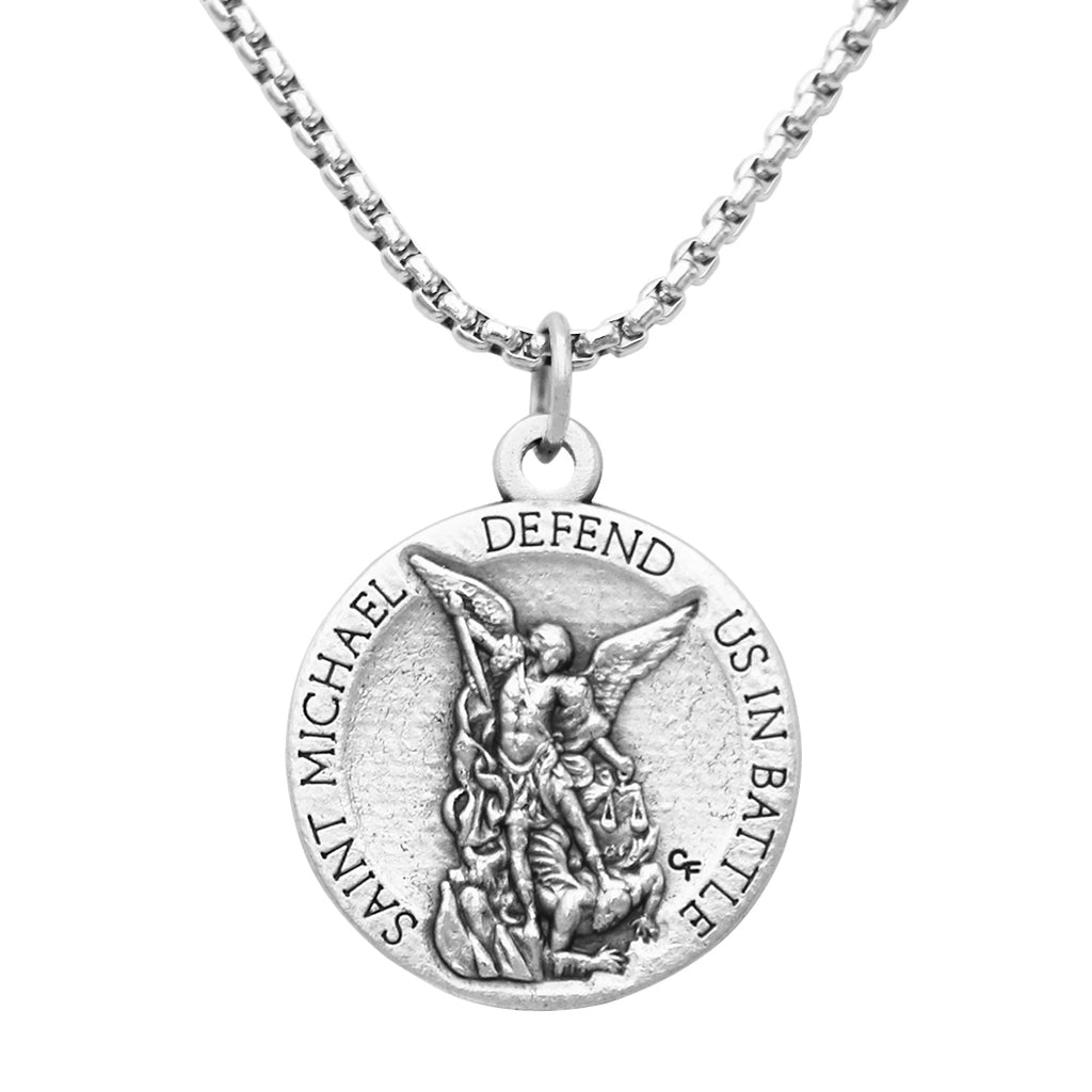 Rosemarie Collections St Michael Military Medal Pendant Necklace United States Army (Chain Without Extender)