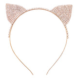 Halloween Costume Crystal Cat Ears Headband (Gold)