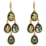 Abalone Shell Chandelier Dangle Earrings