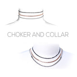 Chain Choker Necklaces Set of 3 (Tri Tone)
