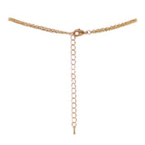 Classic Double Layer Petite Chain Cross Pendant Necklace with Simulated Pearls