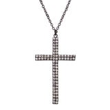 Religious Gift Crystal Accented Cross Pendant Necklace