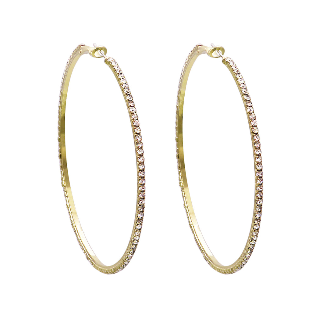 Hypo-allergenic Large Hoop Earrings 73mm (Gold Tone)