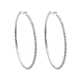 Hypo-allergenic Large Hoop Earrings 73mm (Silver Tone)