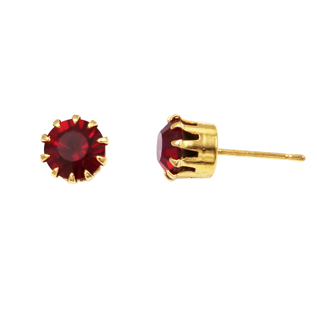 dogeared small stud dipped simple gold cross earrings