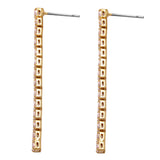 Stunning Hypoallergenic Premium CZ Crystal Vertical Bar Dangle Earrings, 2
