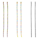 Crystal Rhinestone Extra Long Strand Shoulder Duster Drop Earrings (3 Pack-Multicolored Crystals Gold Tone, Silver Tone, Clear Crystal Hematite Tone)