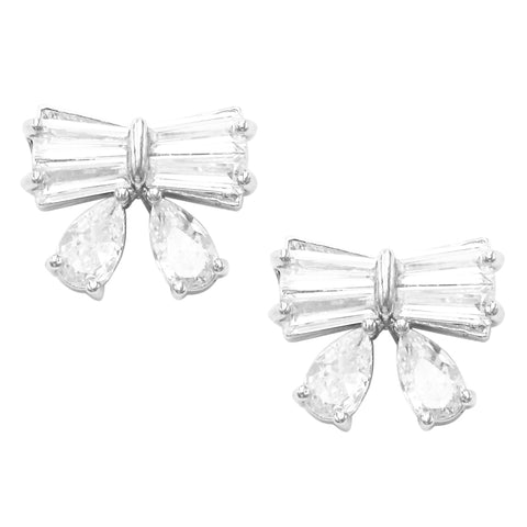 Elegant Timeless Faux Pearl and Cubic Zirconia Post Earrings