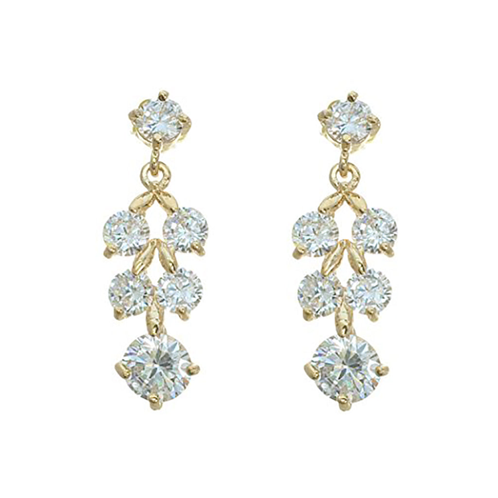 Classic Crystal Dangle Earrings (Gold)